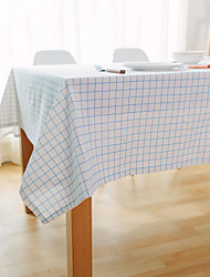 cheap -Square Gingham Table Cloth , Linen Material Hotel Dining Table Table Decoration
