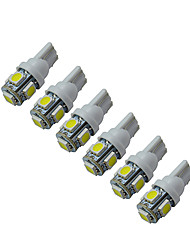 cheap -6Pcs 5-5050 SMD Car T10 LED Replacement Reverse Instrument Panel Lamp Bulbs For Clearance Lights DC 12V