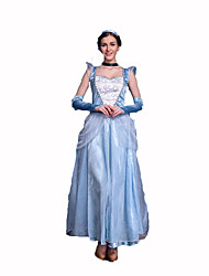cheap -Princess Fairytale Women's Christmas Halloween Carnival Festival / Holiday Polyester Women's Carnival Costumes Solid Colored Lace / Gloves / Headwear