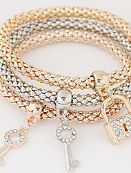 cheap -Women's Charm Bracelet Layered Stack Stacking Stackable Friendship Ladies Luxury European Simple Style Fashion Rhinestone Bracelet Jewelry Rainbow For Christmas Gifts Gift Daily / Imitation Diamond