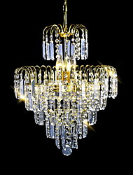 cheap -SL® 6-Light 40 cm Crystal / Candle Style Chandelier / Chandeliers Crystal Electroplated Modern Contemporary 110-120V / 220-240V