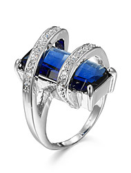 cheap -Women's Couple Rings Statement Ring Ring Sapphire AAA Cubic Zirconia Citrine Blue Pink Champagne Zircon Cubic Zirconia Rhinestone Geometric Ladies Personalized Unusual Wedding Party Jewelry Pear Cut