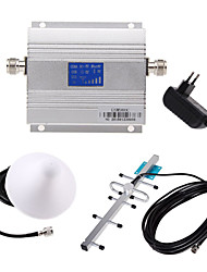 cheap -LCD GSM 900MHz Cell Phone Repeater WiFi Repeater Wifi Extender + Yagi Antenna Kit UL 890-915Mhz DL 935-960Mhz