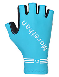 cheap -FJQXZ Winter Bike Gloves / Cycling Gloves Mountain Bike MTB Breathable Anti-Slip Sweat-wicking Protective Fingerless Gloves Half Finger Sports Gloves Black Yellow Blue for Adults' Outdoor