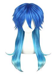 cheap -Cosplay Cosplay Cosplay Wigs Men's Women's 24 inch Heat Resistant Fiber Blue Anime