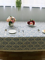 cheap -Square Floral Table Cloth , Linen Material Hotel Dining Table Wedding Banquet Dinner Table Decoration Dinner Decor Home Decoration