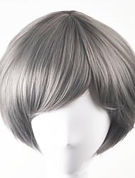 cheap -Synthetic Wig Straight Straight Bob Wig Short Grey Synthetic Hair Women's Gray