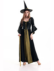 cheap -Witch Women's Christmas Halloween Carnival Festival / Holiday Polyester Women's Carnival Costumes Solid Colored / Hat