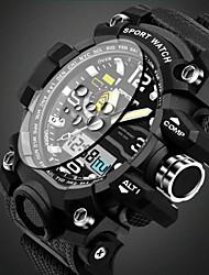 cheap -SANDA Men's Sport Watch Wrist Watch Quartz Casual Water Resistant / Waterproof Analog Black Yellow Red / Alarm / Calendar / date / day / Luminous / Stopwatch / Noctilucent