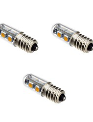 cheap -3pcs 1 W LED Corn Lights 100-120 lm E14 T 7 LED Beads SMD 5050 Warm White 220-240 V / 3 pcs