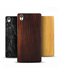 cheap -Case For OnePlus Pattern Back Cover Wood Grain Hard PC