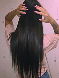 cheap -Human Hair Glueless Full Lace Full Lace Wig style Brazilian Hair Straight Wig 120% Density with Baby Hair Natural Hairline African American Wig 100% Hand Tied Women's Short Medium Length Long Human