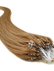 cheap -Febay Micro Ring Hair Extensions Human Hair Extensions Straight Human Hair Dark Auburn
