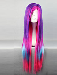 cheap -Cosplay Wigs Women's 32 inch Heat Resistant Fiber Purple Anime / Punk Lolita Dress