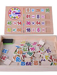Недорогие -Игрушечные счеты Часы обучения времени Устройства для снятия стресса Оригинальные деревянный 1 pcs Мальчики Девочки Игрушки Подарок