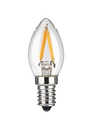 abordables -KWB 1pc 2 W Ampoules à Filament LED 1600 lm E12 2 Perles LED COB Blanc Chaud 110-130 V / 1 pièce / RoHs