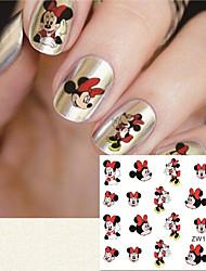 cheap -fashion printing pattern cartoon transfer printing nail stickers