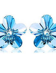 cheap -Women's Stud Earrings Sterling Silver Earrings Jewelry Blue For Party