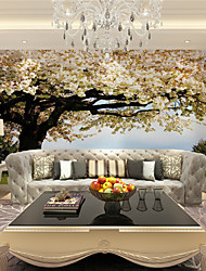 cheap -Mural Wallpaper Wall Sticker Covering Print Adhesive Required 3D Effect Tree Flower Canvas Home Décor