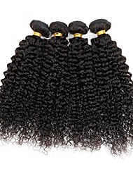 cheap -4 Bundles Indian Hair Curly Kinky Curly Human Hair Natural Color Hair Weaves / Hair Bulk Human Hair Weaves Human Hair Extensions / 8A