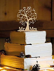 Недорогие -Украшения для торта Бабочки Монограмма Резина Свадьба с 1 Пенополиуретан