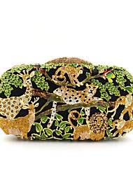 cheap -Women's Bags Metal Evening Bag Crystal / Rhinestone Flower Floral Print for Wedding / Party / Event / Party Golden / Fuchsia / Gold / Green / Rhinestone Crystal Evening Bags