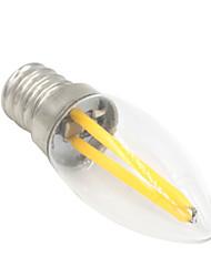 cheap -1.5 W LED Globe Bulbs 80-100 lm E12 T 2 LED Beads COB Decorative Warm White 220-240 V / 1 pc