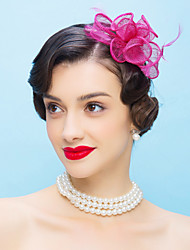 cheap -Tulle / Feather Kentucky Derby Hat / Headbands / Fascinators with 1 Wedding / Special Occasion / Casual Headpiece