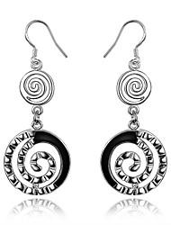 cheap -Women's Drop Earrings Hoop Earrings Geometrical Ladies Sterling Silver Earrings Jewelry Silver For Wedding Party Daily Casual