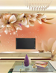 cheap -Art Deco 3D Home Decoration Contemporary Wall Covering, Canvas Material Adhesive required Mural, Room Wallcovering