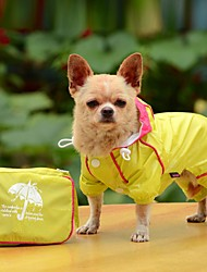 cheap -Dog Rain Coat Dog Clothes Solid Colored Yellow Red Blue Acrylic Fibers Costume For Spring &  Fall Summer Men's Women's Waterproof