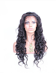 cheap -Remy Human Hair Lace Front Wig style Brazilian Hair Natural Wave Natural Black Wig Women's Short Medium Length Long Human Hair Lace Wig