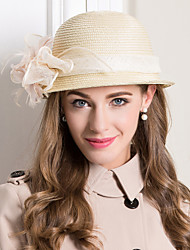 cheap -Women's Feather Basketwork Flax Headpiece-Wedding Special Occasion Casual Fascinators Hats 1 Piece