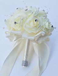 "cheap -Wedding Flowers Bouquets Wedding / Party / Evening Foam / Satin 9.84""(Approx.25cm)"