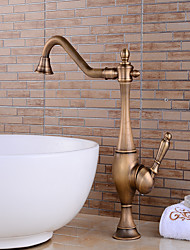 cheap -Kitchen faucet - Rotatable Antique Copper Centerset Single Handle One HoleBath Taps