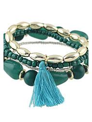 cheap -Women's Bead Bracelet Ladies Bracelet Jewelry Black / Red / Green For Casual