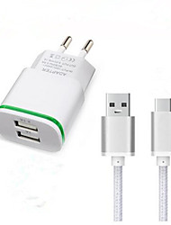 cheap -Home Charger USB Charger EU Plug Fast Charge / Charger Kit 2 USB Ports 3.1 A for