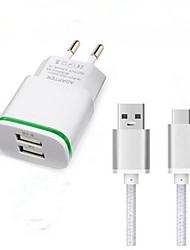 Недорогие -Зарядное устройство для дома Зарядное устройство USB Евро стандарт Быстрая зарядка / Зарядное устройство и аксессуары 2 USB порта 3.1 A для