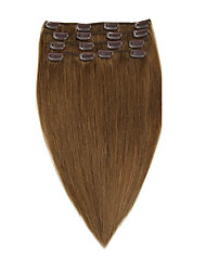 cheap -clip in virgin remy human hair extensions 7pieces set 8 14 20inch 70g 22inch 100g
