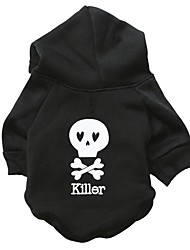 cheap -Dog Hoodie Winter Dog Clothes Black Green Red Costume Cotton Skull Fashion Halloween XS S M L