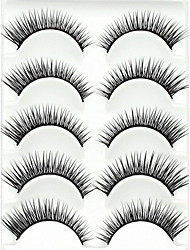 cheap -Eyelash Extensions False Eyelashes 5 pcs Extended Lifted lashes Volumized Fiber Full Strip Lashes Crisscross Natural Long - Makeup Daily Makeup Party Makeup Cosmetic Grooming Supplies