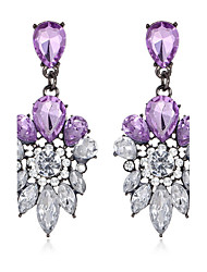 cheap -Women's Synthetic Amethyst Amethyst Synthetic Sapphire Drop Earrings Ladies Elegant everyday Crystal Earrings Jewelry Purple / Blue For Wedding Party Masquerade Engagement Party Prom Promise 1pc