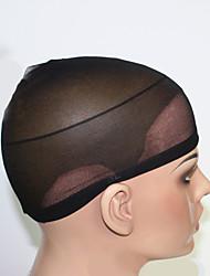 cheap -2pcs black unisex elastic wig caps for making wigs glueless hair net wig liner cap snood nylon stretch mesh