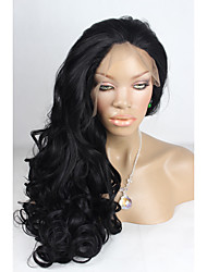 cheap -Synthetic Lace Front Wig Body Wave Body Wave Lace Front Wig Black#1B Synthetic Hair Women's Natural Hairline Black