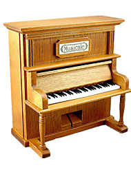cheap -Music Box Wind-up Toy Wooden Music Box Antique Music Box Sweet Special Piano Creative Sound Novelty Simulation Unique Wood Women's Boys' Girls' Kid's Adults Graduation Gifts Toy Gift