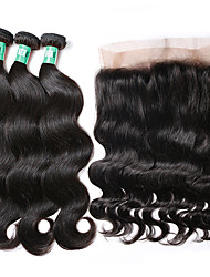 cheap -360 lace frontal closure with bundles body wave brazilian virgin human hair weaves 3 bundles with one 360 frontal