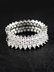cheap -Women's Ring Silver Sterling Silver Rhinestone Luxury Wedding Party Jewelry / Casual