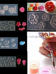 cheap -4 style acrylic flowers 3d nail art mold diy decoration fashion