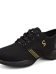 cheap -Women's Dance Shoes Fabric Jazz Shoes / Dance Sneakers / Modern Shoes Flat / Sneaker Flat Heel Non Customizable White / Fuchsia / Pink / Performance / Practice / Professional / EU40