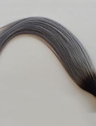 Недорогие -PANSY Fusion / с I-образным кончиком Расширения человеческих волос Прямой Натуральные волосы Серый